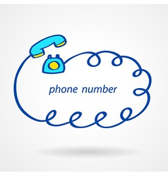 phone number icons element sketch color vector image vector image