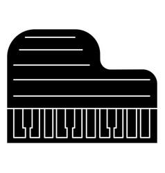 piano grand icon black sign vector image vector image