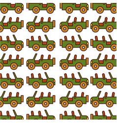 safari jeep pattern background vector image