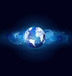 World communication and technology futuristic vector