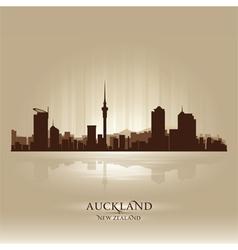 Auckland new zealand skyline city silhouette vector