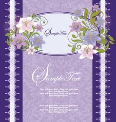 Purple Floral Frame vector image