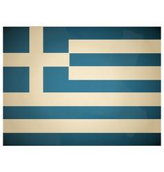 Vintage Greece Flag vector image