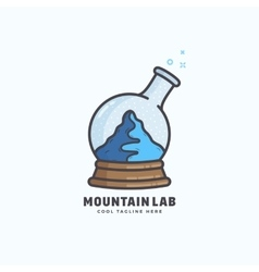 Mountain Lab Abstract Sign Emblem or Logo vector image