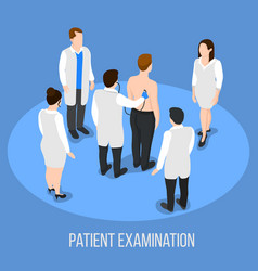 patient examination medical background vector image vector image