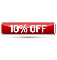 10 off - abstract beautiful button with text vector