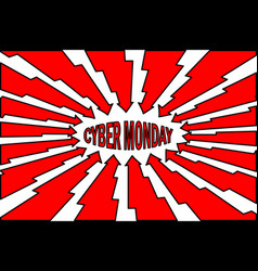 abstract - cyber monday sale - background vector image