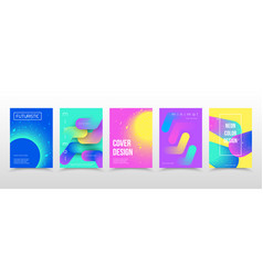 Abstract gradient shapes templates for creative vector