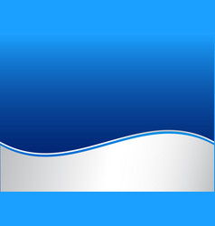 Abstract stripe wave lines graphic blue and white vector