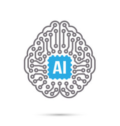 Ai artificial intelligence technology circuit vector