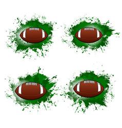 American football ball rugsport halftone banner vector