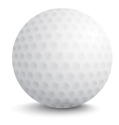 Ball for golf vector image