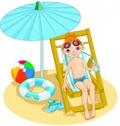 Beach boy vector