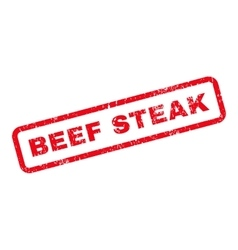 Beef Steak Text Rubber Stamp vector