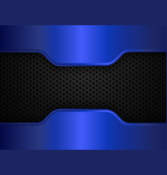 black and blue metal background design vector image