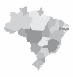 brazil states map vector image