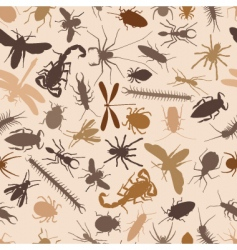 bugs seamless tile vector image