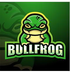 bullfrog mascot esport logo design vector image