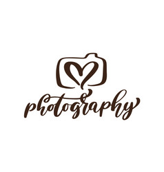 Camera photography logo icon template vector