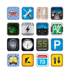 car signs and icons vector image