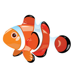 Cartoon fish funny sea fish vector