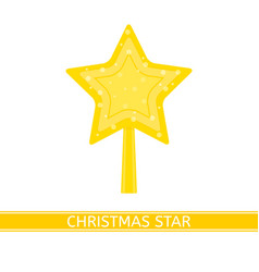 christmas decoration star isolated vector image