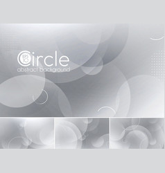 Circle abstract background - white vector