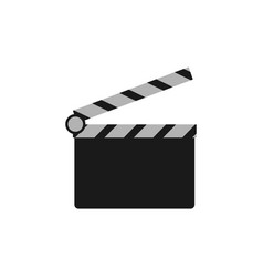 clapperboard film logo icon design template vector image