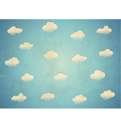Clouds in the sky vector