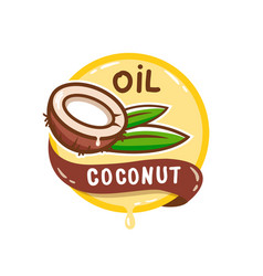Coconut oil logo vector