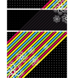 color diagonals over black background vector image