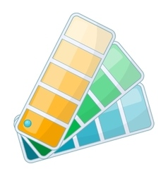 Color swatch icon cartoon style vector image