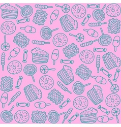 Colorful backdrop with sweets vector