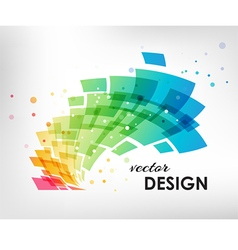 Colorful design element on white background vector