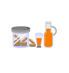 Cookie and drink design vector