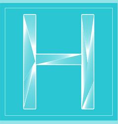 Decorative font stylized letter h vector