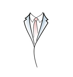 Drawing symbol aof man elegant suit vector image