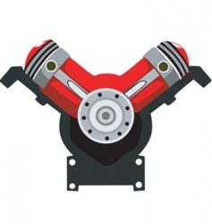 engine head vector image