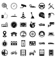 Evacuation icons set simple style vector