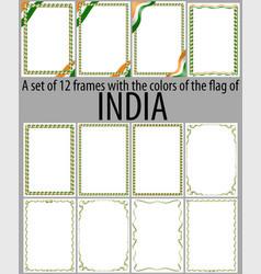 Flag v12 india vector