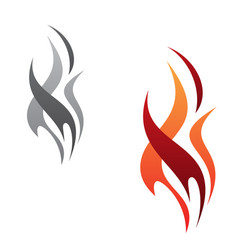 flame tribal icon minimalist vector image