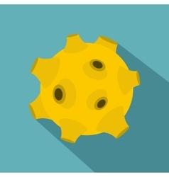 Full moon icon flat style vector