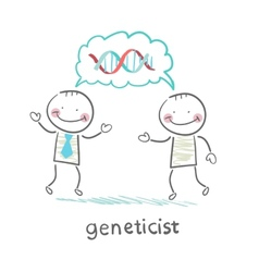 Genetics say about the formula genes vector image