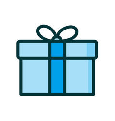 gift box present in gift in flat style on white vector image