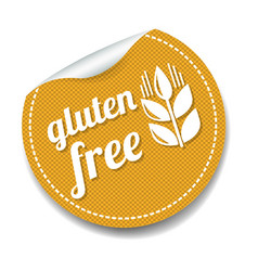 gluten free sticker isolated white background vector image