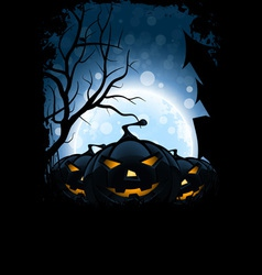 Grungy Halloween Card vector image