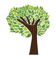 hand and tree vector image