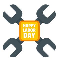 happy labor day keys logo icon flat style vector image