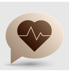 Heartbeat sign Brown gradient icon vector image