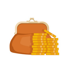 icon of wallet with money purse with cash vector image